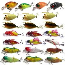 23pcs Hard Insects minnow baits fishing lures kit cicada Locust Feather Cricket