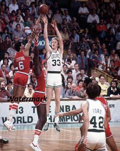 1980 NBA Celtics Larry Bird vs 76ers Dr J Julius Erving 8 X 10 Photo Picture