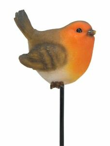 Robin Bird - Plant Pal - Lifelike Garden Ornament Gift - Indoor or Outdoor NEW