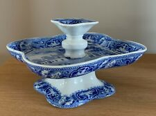 Ridgways Staffordshire Blue & White Pickle Dish Stand Oxford Observatory c1810