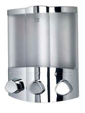Bathroom Shower Shampoo Gel Soap Dispenser Triple Wall Or Corner Mounted Chrome