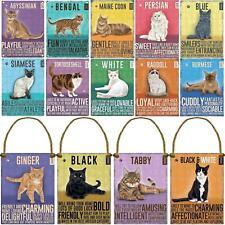 More details for cute metal cat signs hanging wall door plaque pet kitten breed home garden decor