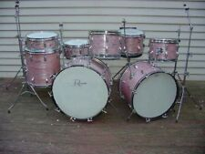 Rogers Holiday Drum Set ● WINE RED RIPPLE Pearl 22/20/12/13/13/16 ● WOW PINK ●