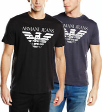 Patternless Slim Fit ARMANI T-Shirts for Men