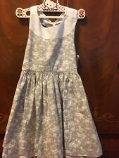 Girls Designer neck and neck grey adorable summer Dress Size 8
