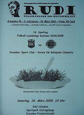 Programm 2004/05 Dresdner SC 1998 - VfB Chemnitz