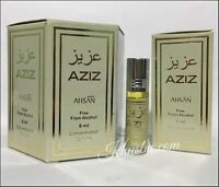Box Of 6 AZIZ 6ml By Ahsan Special Edition Non Alcohol Roll On Perfume Oil Attar