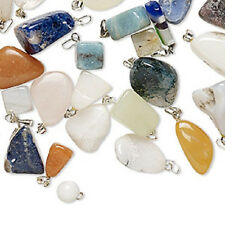 Handmade Stone Pendants Mix Natural Gemstone Ready to Resale Made in USA 10 Qty