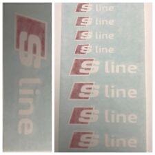 8pc Custom Audi S Line Brake Caliper Vinyl Sticker Decal Logo Overlay Graphic