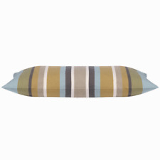 "Corban Beach Style Striped Rectangle Cover Aqua base colour 35x70 cm 14x29"""