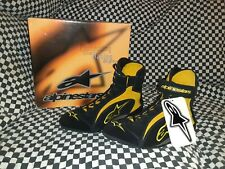 RARE Vintage Alpinestars F1-R 7.5 Yellow /Black Racing shoes Nos Nib With...