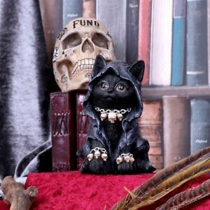 Nemesis Now  REAPERS FELINE  Cloaked  Reaper Cat Ornament  Gothic  Witch
