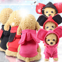 Pet Dog Hoodie Coat Jacket Warm Sweatshirt Costume Puppy Cat Clothes Apparel