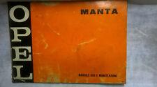 Manuale uso e manutenzione OPEL MANTA 1970