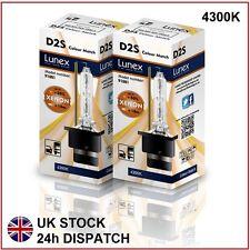 2 x D2S Genuine LUNEX XENON 4300K HID BULB compatible 85122 66040 66240 53500 CM