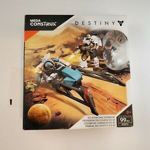 Mega Construx Destiny EV-41 Racing Sparrow Building Set SEALED (99 pcs) DXD72