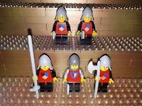 5 Lego Classic Castle Ritter Figuren Minifig Waffen cas230 cas002 6083 6077 R26