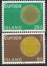 ISLANDIA EUROPA cept 1970 Sin Fijasellos MNH