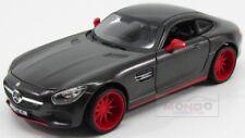 Mercedes Benz Gts Amg (C190) 2014 Grey Met Maisto 1:24 MI32505