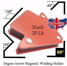 "Freccia Magnetica Saldatura Holder Clamp 3 angoli ad arco Saldatore Saldatura Strumento 2PCS 3"""