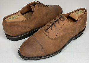 Walk Over Geo E. Keith Mens Size 9.5 D Brown Suede Oxford Cap Toe Shoes 23101L