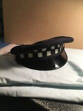Vintage Chicago Police Obsolete Checkerboard Patrolman Hat Size 7 1/8