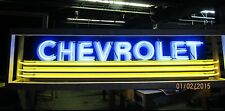 """New Chevrolet Strip Neon Sign w/Bullnose Ends 9 Feet Wide x 32"""" High"""