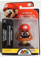 RARE! World of Nintendo Super Mario CAPTURED GOOMBA Figure Jakks Pacific 2018