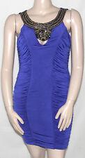 NEW Baby Phat Sleeveless Embellished RuchedJunior Dress BLUE/JUNIOR 1X