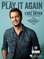Play It Again Sheet Music Piano Vocal Luke Bryan NEW 000129201