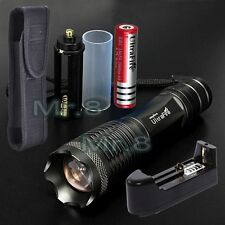 UltraFire LED 10000lm CREE XM-L Flashlight Torch+18650 Battery+Charger+Holster