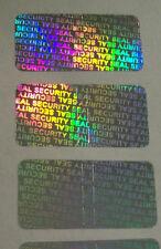 """100 SECURITY SEAL Hologram Tamper Evident Warranty Void Labels 1/2""""x1"""""""