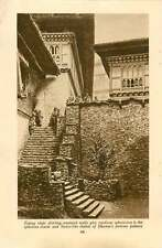 1920 Bhutan British Mission Zig-zag Steps Fortress Palace