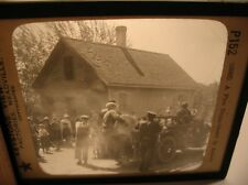 Fire Department Hose Truck Keystone Magic Lantern Glass Slide Photo cdii