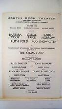 THE GRASS HARP Playbill BARBARA COOK / CAROL BRICE / KAREN MORROW Flop NYC 1971