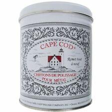 CAPE COD Metal Polishing Tin Kit (12 cloths) Use on Steel, Silver, Brass, Copper