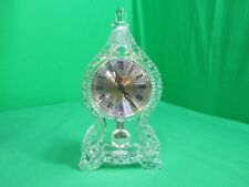 SHANNON GOTHIC CLOCK 24% LEAD FINE CRYSTAL WORKS GREAT !!!