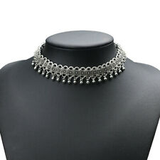 Gothic Choker Style Alloy Metal Tibetan Collar Necklace Detailed Sexy Simple UK