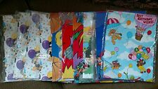 Lot 11 pieces 80s Vintage Birthday Muppets Super Man Thomas Train Wrapping Paper