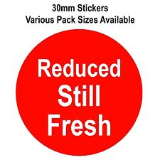 30mm Bright Red Reduced Still Fresh Stickers - Sticky Labels - Swing Tag Labels