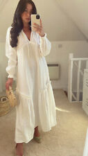 H&M HM White Summer Kaftan Dress.  Size L