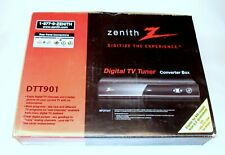 Zenith DTT901 Digital TV Tuner Converter Box with Remote and Cables - New in Box