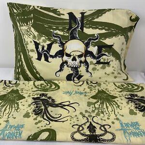 Disney Pirates Of The Caribbean Dead Man's Chest Twin Flat Sheet Jay Franco