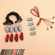 8x Door Warning Light + 4x LED Footwell Lamp Cable For AUDI A3 A4 A6 A8 Q3 Q5 TT