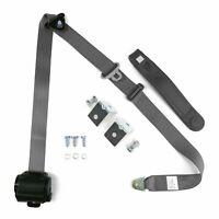 Grey Retractable Front Shoulder Seat Belt Jeep CJ YJ Wrangler 82-95 3 Point dot