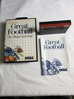 Great Football Sega Master System GAME COMPLETE IN CASE