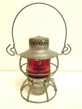 DRESSEL RAILROAD LANTERN ARLINGTON N.J. ORIGINAL WITH RED GLOBE~INVENTORY #1421