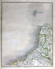 CORNWALL DEVON PADSTOW CAMELFORD LUNDY  BY JOHN CARY GENUINE ANTIQUE MAP  c1794