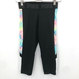 PINK by Victoria's Secret ultimate black cropped leggings workout gym active XS