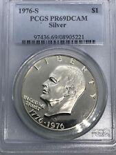 "1976 S ""Silver"" Proof Eisenhower Dollar PCGS PR69 Deep Cameo"
